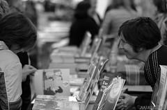 """""""Booking"""" (esteveb) Tags: street monochrome lensbaby books carrer llibres santjordi d7000 edge80 santjordi2016"""