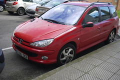 Peugeot 206 sw (Jusotil_1943) Tags: cars coches redcars 130416