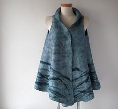 Felted vest - misty blue (GalaFilc) Tags: fashion felting vest woolvest feltedvest