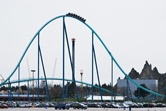 Leviathan (Marcanadian) Tags: park toronto ontario canada spring maple king fair cedar roller april cw theme rides wonderland coaster vaughan fastest leviathan 2012 canadas tallest