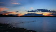 The fence (growlerbrown) Tags: longexposure sunset canon fence reservoir rutland rutlandwater
