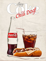 02468753-72-Enjoy Coke With Chili Dog-2 (Jim would like to get on Explore this year) Tags: red food ice glass photoshop advertising hotdog chili drink cocacola cokebottles
