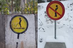 New Delhi, India vs Bromma, Sweden (morner) Tags: india pee sign sweden trafficsign newdelhi bromma