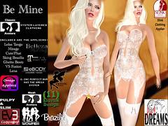 Be Mine white (mysticdreams0607) Tags: eve white sexy garter perfect bra panty lingerie sensual fantasy bow micro valentines theme stocking exclusive petite belleza physique slink matreiya evemesh eveavatar evebasic