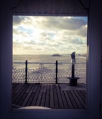 FRAMED, WEST PIER, BRIGHTON, ENGLAND (wordly images) Tags: sea england beach pier seaside brighton westpier frame boardwalk