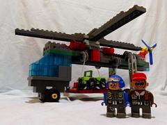 Lego Duplo - Hubschrauber - Scycrane 03 (*hannes*) Tags: lego helicopter toolo skycrane hubschrauber duplo moc helikopter rotors