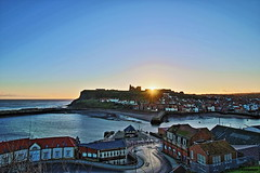HDR Whitby Abbey Sunrise (P.J.S. PHOTOGRAPHY) Tags: abbey sunrise angle wide whitby hdr