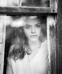 . (Sandy Phimester) Tags: portrait reflection film window glass analog 6x7 pushed ilford fp4 pentax67