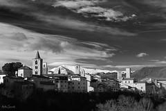 View from Porta Tufilla Bridge, Ascoli Piceno, Italy (ambrasimonetti) Tags: italy white snow black canon landscape e neve bianco nero marche paesaggio ascolipiceno 2016 vettore 14january2016