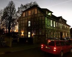 Fachwerk #nightfall #twilight #dusk #evening #car... (ocyan) Tags: urban house tree car evening twilight dusk g nightfall fachwerk instamood uploaded:by=flickstagram goestern instagram:photo=11284090842032011913374187