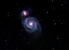 Reprocess of M51 (CKemu) Tags: space science whirlpool galaxy astrophotography astronomy m51 dso ngc5194 astrometrydotnet:status=solved astrometrydotnet:id=nova1397950