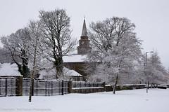 Lochwinnoch in the Snow - Parish Church (Neil Sutton Photography) Tags: winter snow tree canon landscape scotland unitedkingdom parishchurch renfrewshire lochwinnoch churchofscotland niftyfifty