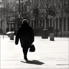 No hand woman (Radoslaw Betlejewski) Tags: road street city travel people blackandwhite woman white black art monochrome contrast photography hall alley nikon europe sigma poland polska warehouse walkway warsaw and warszawa warszawskie betlejewski