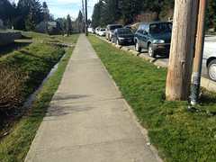 Low impact and cost sidewalks. Level sidewalk, curb stops to create separation and drainage (Seattle Department of Transportation) Tags: seattle low cost neighborhood sidewalk transportation impact twitter sdot donghochang