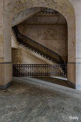 MDR-19 (StussyExplores) Tags: italy abandoned architecture stairs hospital decay institute explore r di exploration asylum derelict manicomio mental urbex