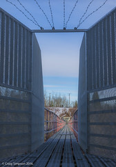 Brookside Ravine Pipeline, Edmonton. 7th February 2016. (craigdouglassimpson) Tags: canada edmonton bridges alberta ravine pipeline brookside
