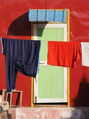 Colour Coordination (Feldore) Tags: red lake wall temple pagoda burma dry olympus panasonic clothes hanging myanmar inle colourful burmese mchugh drying em1 35100mm feldore