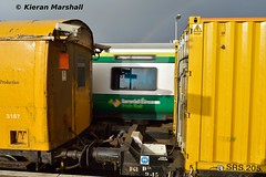 3187 at Portarlington, 1/2/16 (hurricanemk1c) Tags: irish train rail railway trains railways irishrail portarlington 2016 3187 iarnród éireann iarnródéireann weedspray sperrytrain brvan 1045claremorrisportlaoise