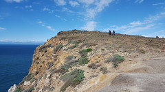 Anne M & Laura hiking on Santa Cruz