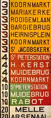 Lijnfilm van een drie-asser in Gent (fragment) (Tim Boric) Tags: tram streetcar tramway ghent gent gand strassenbahn mivb destinationblind lijnfilm