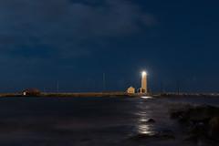 Lighting the danger (Jason Edge) Tags: ocean longexposure sea lighthouse water night clouds coast iceland nikon waves d750 tamron vanguard islande 2470
