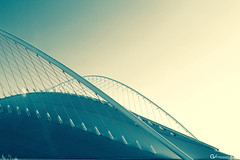 Curved Lines (gblaxos) Tags: city light sky architecture stadium athens calatrava olympic engineer