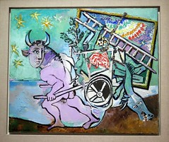 Minotaur pulling a cart (1936) by Pablo Picasso (Sokleine (presently in Munich)) Tags: paris france art museum exhibition musée exposition picasso pablopicasso grandpalais 75008 minotaure picassomania