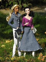 Patricia and Sylvie - Autumn walk (nauriel :-)) Tags: fashion elise natalia jolie elusive creature fatale royalty ontherise