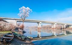 river Kupa (29) - winter morning (Vlado Ferenčić) Tags: bridge winter sky cloudy bridges croatia rivers kupa hrvatska wintermorning wintercolors tokina12244 riverkupa nikond90