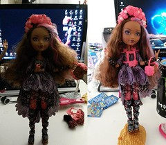 Before and After Cedar Wood (MCRFan1981) Tags: birthday wood pink red black beautiful beauty hair spring high mess dolls katy purple o holly collection cedar hood fixed after ever perry briar cerise complete frizzy unsprung