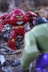 BFFs (ElDave) Tags: macro toy toys actionfigure lego ironman hulk hulkbuster