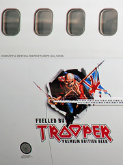 """Iron Maiden's """"Ed Force One"""" (Infinity & Beyond Photography) Tags: trooper beer plane airplane tour aircraft mascot fortlauderdale eddie decal boeing ironmaiden ftlauderdale 747 airliner b747 fll 2016 fueled fuelled kfll bookofsouls edforceone"""