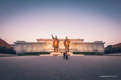 Sunset at Mansudae Grand Monument (reubenteo) Tags: sunset building sunrise landscape asia korea communist communism kimjongil socialist socialism northkorea pyongyang kimilsung kimjongun