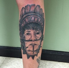 amazonian native tattoo by Wes Fortier at Burning Hearts Tattoo Co. - Waterbury, CT
