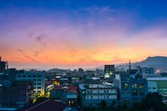 (DSC_0517) (nans0410(busy)) Tags: sunset sky cloud building outdoors scenery taiwan  rays  shulin   newtaipei