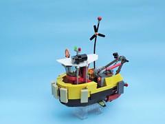 Tugboat 01 (JPascal) Tags: boat flying lego tugboat
