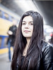 Nathalie, Amsterdam 2016: Waiting on the train (mdiepraam) Tags: portrait girl beautiful dutch station amsterdam pretty nathalie brunette elegant leatherjacket centraal 2016 naturalglamour