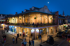 "Moon and Jupiter Over Bourbon Street • <a style=""font-size:0.8em;"" href=""http://www.flickr.com/photos/29084014@N02/25670573274/"" target=""_blank"">View on Flickr</a>"