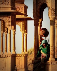 Bada Bagh woman (Scossadream) Tags: door light woman india elephant colour bus brick stone kids children temple kid women squirrel gallery desert fort shepherd balcony delhi indian faith swastika flock plate flamingos palace camel mausoleum dome spacemonkey worker superstition bikaner karnimata jaisalmer rajasthan jodhpur redfort humayunstomb jamamasjid smp mehrangarh bluecity mandawa badabagh divinities svastica junagarh thardesert scossa jaswantthada indiangate d7100 worldpeacegong lucaguizzardi spacemonkeypictures nikond7100