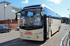 Cymru Coaches, Swansea B12 CYM, Volvo B12B in Monmouth (majorcatransport) Tags: volvo monmouth jonckheere welshbuses cymrucoachesswansea