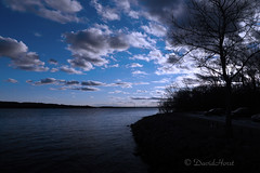 Mississippi Blue (david.horst.7) Tags: blue sky water clouds river mississippi evening