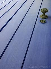 The Blue Door (Yvonne Warriner) Tags: door blue lines patterns doorhandle bluedoor leadinlines