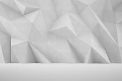 Abstrakter 3D Hintergrund als Wand (HEBAU GmbH) Tags: modern germany deutschland design licht 3d alt interior interieur leer raum wand zimmer kunst grunge surreal grau struktur köln innen architektur form wei stein schatten innenraum halle gebäude bau muster nordrheinwestfalen lowpoly beton mauer abstrakt einrichtung hintergrund dreieck weis geometrisch polygonal niemand polygone gebude