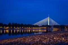 Ada Bridge (milosbeo) Tags: ada serbia na most adi belgrade beograd