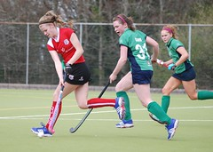 Clare pushing the Harlequins forward out wide away from the Greenfields goal (Greenfields Hockey Club) Tags: hockey cork connacht quins harlequins greenfields dangan ihl irishhockeyleague greenfieldshockeyclub irishhockey connachthockey hockeygalway corkharlequins