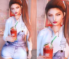 · Sandía · (Sang Blackthorne) Tags: watermelon sl secondlife e fiore meshhead lovesoul kitja kustom9 elikatira labelmotion