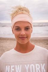 Bianca (Frank CasPe) Tags: pink blue sunset sea portrait sky love beach nature girl beautiful beauty fashion mxico eyes retrato playa nayarit adventure vallarta blondie pv nuevo sudafrican
