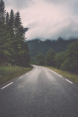 Andrew Unwin (Andrew Unwin) Tags: road trees cloud mountains tarmac norway fog forest moody photographer andrew scandinavia fjords geiranger unwin