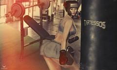 Miranda~She's no joke.... (Skip Staheli (Clientlist closed)) Tags: sexy avatar sl digitalpainting secondlife gym kickboxing virtualworld skipstaheli mirandabrinner