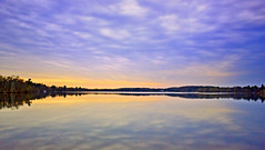Long Exposure (Bob's Digital Eye) Tags: sunset sky lake water canon flickr flicker t3i ndfilter lakesunset 10stop laquintaessenza bobsdigitaleye